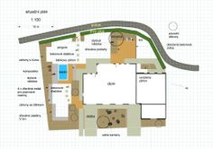 navrh zahrady do L