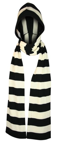 Lucky-13 Cloaked Sweater Knit Hooded Scarf