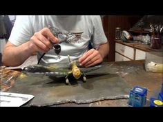 Weathering Wash (Pin Wash) : Panel Lines, Streaking and Fading : Tutorial - YouTube