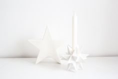 worry about it later: interior: christmas decoration part 1 white stars depot deco nordic christmas inpso Nordic Christmas, Christmas Inspiration, Candle Holders, Christmas Decorations, Minimalist, Candles, Stars, Interior, Design