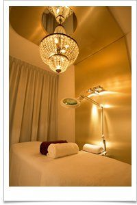 salon spa and facial room I lo e the chandelier idea