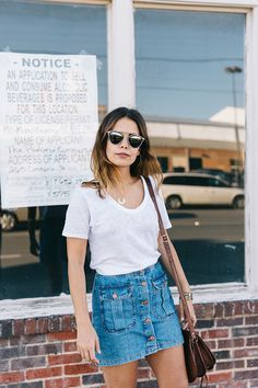The coolest denim skirts of the moment.