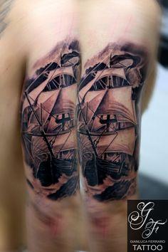 #tattoo #tatuaggi #napoli #naples #gianlucaferrarotattoo #italy #tattedup #realistic #tatuatori #art #passion #love #happy #like #fineart #bodyart #atwork #realismo #ink #beautiful #freehand #arte #artist #tatuatore #tatts #inkedup #photooftheday #tattoist #tagsforlikes #greenglide #tat #tat2 #tattooitalia #tattoonaples #tatuatorinapoli #realismtattoo #tatuaggibiancoenero #tattooblackandgray  #tattooveliero #sailingshiptattoo #sailingship #tattoosea #veliero #ship #boat #shiptattoo
