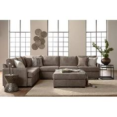 Lindley Fabric Sectional Color: Porsche Polyester FabricIncludes Left Facing Chaise, Armless Sofa and Right Facing Sofa ChaiseHandcrafted in the USA U Shaped Sectional, Corner Sectional, Reclining Sectional, Chaise Sofa, Living Room Furniture, Home Furniture, Antique Furniture, Outdoor Furniture, Modern Furniture