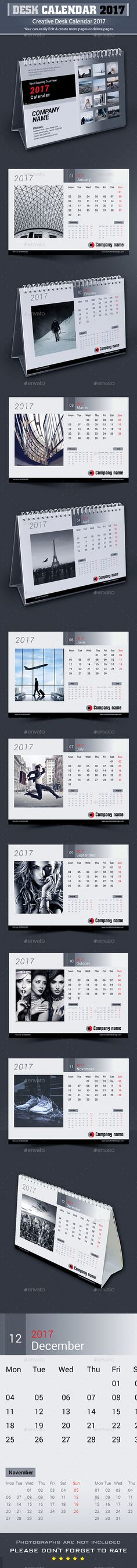 Clean Desktop Calendar 2016 2017 2018 Calendar Design Desktop