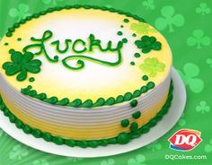 Lucky you. Mint Oreo isn't just a BLIZZARD Treat flavor. It also makes one heck of a St. Patty's Day cake. Get your DQ Cake today at www.DQCakes.com #DQ #DairyQueen #LOVEmyDQ #DQCakes #StPattysDay