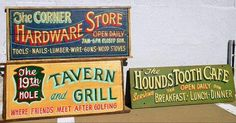 Using reclaimed wood from old barns, doors, fences and houses, Donnie Poe designs hand-lettered, hand-painted signs that look 50 to 100 years old...