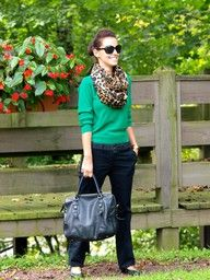 Love the colours and how the scarf was incorporated.