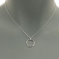 circle pendant delicate chain necklace