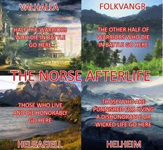 The Norse afterlife.