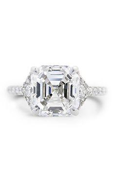 Louis Glick 4.13ct H/VVS2 Asscher Cut Diamond Ring | Oster Jewelers