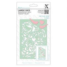 X-cut Large Dies (5pcs) - Love Birds - X-cut from Mountain Ash Crafts UK