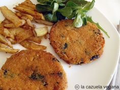 hamburguesas de mijo, espinacas y nueces Egg Recipes, Clean Recipes, Diet Recipes, Healthy Recipes, Healthy Nutrition, Healthy Eating, Food N, Food And Drink, Lunches And Dinners