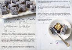 Lamingtons Yummy Treats, Delicious Desserts, Sweet Treats, Yummy Food, Lamingtons Recipe, Baking Recipes, Dessert Recipes, Sponge Recipe, Happy Australia Day
