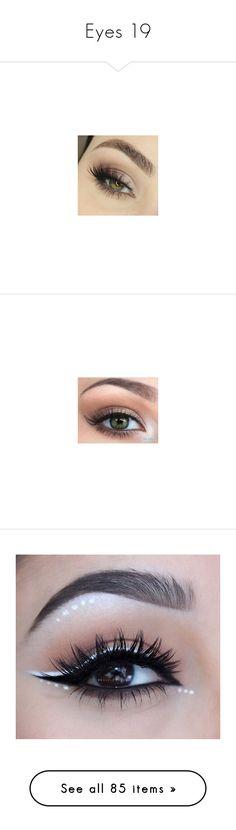 """Eyes 19"" by o-hugsandkisses-x ❤ liked on Polyvore featuring beauty, eyes, beauty products, makeup, lip makeup, lipstick, eye makeup, false eyelashes, maquiagem and backgrounds"