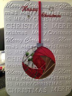 Home made Christmas cards - Iris folding