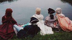 Marie Antoinette..Movie scene..watching the sunrise..
