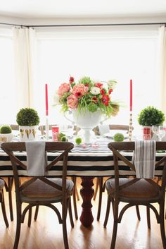 Staying Home on Valentines Day? Learn how to set a beautiful black white pink and red table and create a bright whimsical tablescape. Layer on the Love with stripes, polka dots and gold hearts!