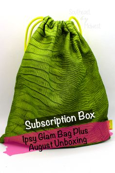 Ipsy Glam Bag, Online Deals, Subscription Boxes, Giveaways, Drawstring Backpack, Gift Ideas, Gifts, Bags, Beauty