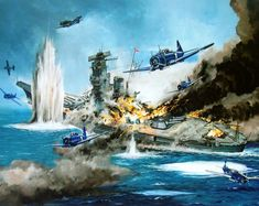 Not every moment in the Second World War was a glorious act of heroism. When the whole world went to war, it meant that a few people signed up who were Navy Aircraft, Military Aircraft, Yamato Battleship, Military Drawings, Imperial Japanese Navy, Aircraft Painting, Airplane Art, Naval History, Navy Ships