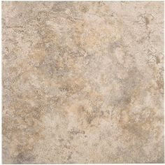 Style Selections 12 x 12 Capri Natural Thru Body Porcelain Floor Tile @Lowes