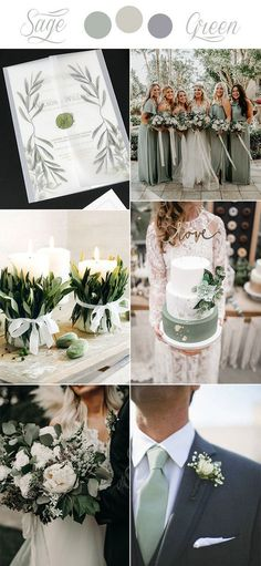greenery wedding color ideas with matched wedding invitations sagewedding Fall Wedding Colors, Wedding Color Schemes, Elegant Wedding Colors, Wedding Colora, November Wedding Colors, Winter Themed Wedding, Summer Wedding Themes, Fall Wedding Suits, Country Wedding Colors
