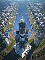 AzərbaycanTower 1,050m height!!  Khazar Island 2,000ha!!