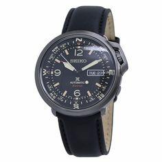 Seiko SRPD35 Prospex Mens Automatic Watch Seiko Automatic, Automatic Watches For Men, Black Leather Watch, Mens Watches Leather, Casual Watches, Cool Watches, Black Watches, Brand Name Watches, Watch Service