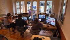 Horse & Country TV - Greenwich 2012. Production gallery with Blackmagic Design ATEM switcher.