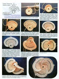 63 Best Ideas For Knitting Stitches Basic Free Pattern Irish Crochet Patterns, Crochet Motifs, Freeform Crochet, Crochet Designs, Crochet Leaves, Crochet Flowers, Knitting Stitches Basic, Russian Crochet, Crochet Flower Tutorial