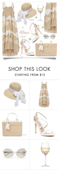 """""""Champagne"""" by paperdolldesigner ❤ liked on Polyvore featuring Boardwalk Style, Chloé, Prada, Steve Madden and RabLabs"""