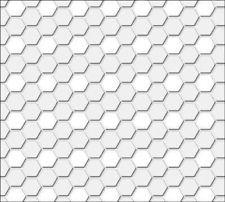 Hexagon Tile Flooring in White Dollhouse Miniature