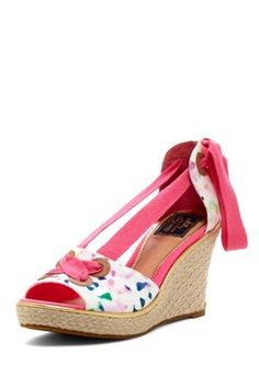 Milly for Sperry Top-Sider Palm Beach Confetti Print Wedge Sandal....want, need, love!