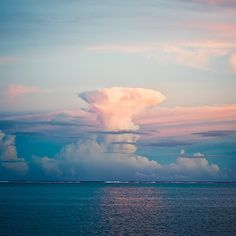 Giant cumulonimbus clouds over Rarotonga, Cook Island on April 7th, 2011.