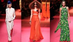 Schiaparelli showed its first couture collection without former creative director Marco Zanini at the helm
