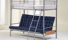 cute couch and bunk bed design