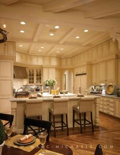 Anchor Builders | Marc-Michaels Interior Design, Inc.  fabulous off white antique white traditional kitchen