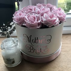 An artificial flower arrangement of foam roses in cream hat box - choice of rose colour Artificial Wedding Bouquets, Artificial Flower Arrangements, Artificial Flowers, Cream Hats, Foam Roses, Wedding Colors, Candles, Colour, Box