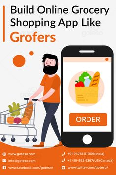 The idea of starting an online grocery business by investing in a supermarket shopping app is getting great attention these days. If you are also looking for a grocery app development company or want to get Grofers app clone for your business, talk to us today! #onlinegrocery #groceryshopper #groceryonline #groceryapp #grocerymarket #supermarketapp #appdevelopment #mobileapps #mobileapplication #mobileappdevelopment #mobileapplicationdevelopment #business #Softwaredevelopment #softwaredeveloper Grocery Checklist, Grocery Shopping App, Grocery Ads, Online Grocery Store, App Development Cost, App Development Companies, Ecommerce App, App Ui, Supermarket App