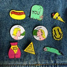 sale 1 WIENER TIME Brooch Pin by PenelopeMeatloaf on Etsy