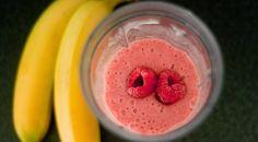 Batido para dieta reductora de Banana y Frambuesa - Vida Lúcida