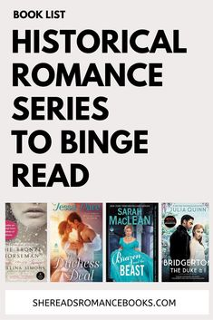 Suffering Bridgerton withdrawal? Check out these binge-worthy historical romance series to read while you wait for the next Bridgerton season! Must Read Novels, Best Books To Read, Good Books, Historical Romance Authors, Good Romance Books, Book Boyfriends, Love Book, Book Recommendations, Book Lists
