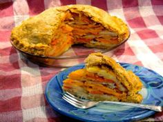Savory Vegetable Pasty Pie #vegan