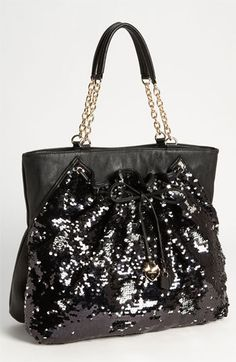 bebe  Unique Chic  Sequin Tote available at  Nordstrom Silver Bags 8407a174ae63e