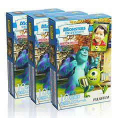 Fujifilm Instax Mini Monsters University 30 Film for Fuji 7s 8 25 50s 90 300 Instant Camera, Share SP-1 Printer