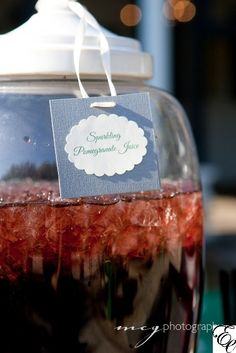 Sparkling Pomegranate Juice | Cocktail Hour | Specialty Drink | Designed by Engaging Events