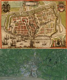 Freiberg Germany Map Then And Now OldCities - Germany map then and now