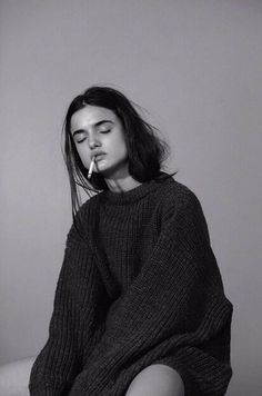 Oversized sweaters and smokes