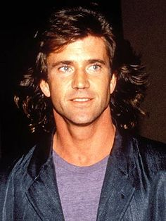 Mel Gibson...oh my my my...the hair..so much 80's here.