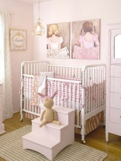 A romantic girl nursery is timeless! #nursery